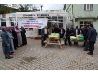 İtalyan çimi tohumu dağıtımı Dumanlı'da gerçekleştirildi