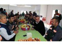 Başkan Taşdelen, Alacaatlı Lojistik Merkezi'nde çalışanlarla buluştu