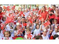 Kepez'in minikleri cumhuriyeti kutladı