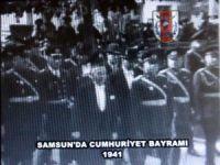 75 yıl önce Samsun'da kutlanan Cumhuriyet Bayramı görüntüleri