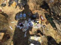 Bingöl'de PKK'ya ait yaşam malzemeleri ele geçirildi
