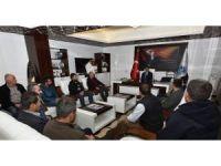 Pazarcılar Odası'ndan Başkan Gürkan'a tebrik ziyareti