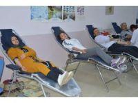 Niksar'da KYK öğrencilerinden kan bağışı