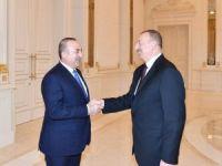 Bakan Çavuşoğlu, Azerbaycan Cumhurbaşkanı Aliyev'le görüştü