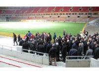 Bakan Kılıç ve TFF Başkanı Demirören, Samsunspor'un yeni stadyumunu inceledi