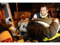 Kontrolden çıkan araç bariyerlere çarptı: 4 yaralı