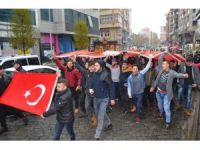 Trabzon'da teröre lanet yürüyüşü