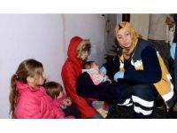 Vakaya giden sağlık ekipleri Suriyeli ailenin dramıyla karşılaştı