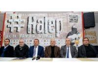 """Aksaray'da """"Halep için Birlik Vakti"""" kampanyası"""