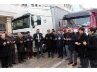 Çankırı'dan Halep'e 2 tırlık yardım malzemesi