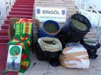 Bingöl'de 132 kilo esrar ele geçirildi