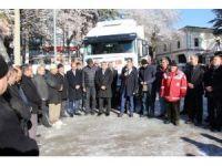 Şaphane ilçesinden toplanan 1 TIR yardım malzemesi Halep'e gönderildi