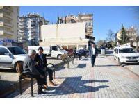 Alanya Mahmutlar Mahallesine yeni oturma bankları