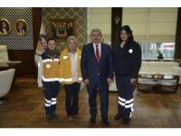 112 Sağlık Çalışanları Başkan Baran'ı Ziyaret Etti