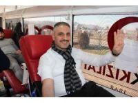 Canpolat, kan bağışı kampanyasına Giresun'dan destek oldu