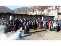 Büyükşehir Belediyesi'den  yangın ve kurtarma eğitimi