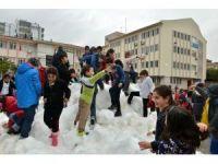 Konyaaltı'nda 'kar' heyecanı devam ediyor