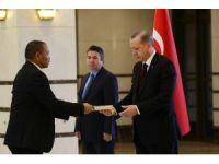 Cumhurbaşkanı Erdoğan Namibya Cumhuriyeti Büyükelçisini kabul etti