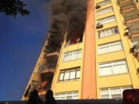 Mersin'de ev yangını
