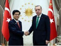 Cumhurbaşkanı Erdoğan, Japonya Altyapı Ulaştırma ve Turizm Bakanını kabul etti