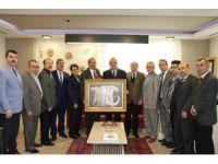 Sendika başkanlarından Başkan Ergün'e tebrik