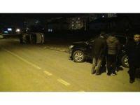 Malatya'da iki araç kafa kafaya çarpıştı: 3 yaralı