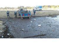 Baraj gölünde çevre temizliği