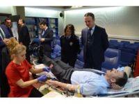Zonguldak Emniyet Müdürlüğünden Kızılay'a kan bağışı