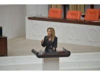 Bağımsız Ankara milletvekili Aylin Nazlıaka kendini kürsüye kelepçeledi