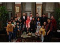 Sevgi Evleri'nde kalan çocuklardan Başkan Yılmaz'a ziyaret