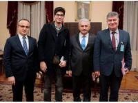 Ayvacık belediye başkanından Başbakana ziyaret