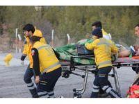 El Bab'ta yaralanan askerler, Gaziantep'e getiriliyor.