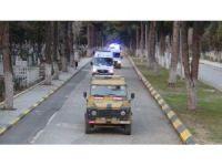 Şehit askerlerin Türk bayrağına sarılı cenazeleri Adli Tıp'a getirildi