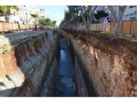 ASAT yağmur suyu drenaj çalışmalarına devam ediyor