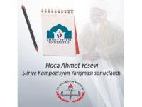 Hoca Ahmet Yesevi Şiir ve Kompozisyon Yarışması sonuçlandı