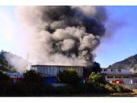 Süt ürünleri fabrikasında korkutan yangın