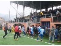 Zonguldak'ta amatör maçta tekme tokat kavga