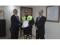 Kaymakam Güven'den başarılı polise teşekkür