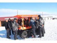 AFAD'ın 8x8 Anfibik aracı kar eğitiminde