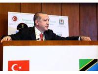 """Erdoğan: """"Bu sinsi terör örgütünün Tanzanya'da da uzantıları olduğunu biliyoruz"""""""