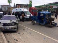 Otomobil ile patpat çarpıştı: 1 yaralı