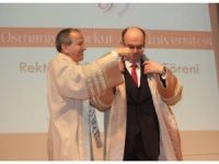 OKÜ'de rektörlük devir teslim töreni