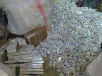 Çocuk beslenme ve kalem çantalarında 7 bin paket kaçak sigara ele geçirildi