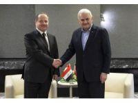Başbakan Yıldırım, Münih'te Barzani ile görüştü