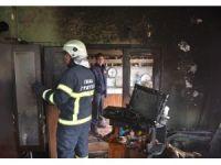 93 yaşındaki kadının evi yandı