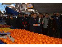 Başkan Hasan Tahsin Usta mahalle pazarını denetledi