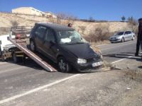 Hafif ticari araç şarampole yuvarlandı: 1 yaralı