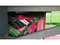 Şehirler arası yolcu otobüsünde 35 bin adet kaçak sigara ele geçirildi
