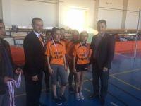 Okullar arası kızlar badminton müsabakaları sona erdi