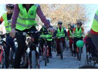 Aksaray'da sağlıklı yaşam için pedal çevirdiler